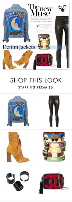 """""""#jeanjackets"""" by hellodollface ❤ liked on Polyvore featuring J Brand, Chloé, Bijoux de Famille, Chanel and jeanjackets"""