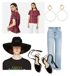 """Untitled #28"" by young25 on Polyvore featuring Alexander McQueen, Maria Francesca Pepe and Gucci"