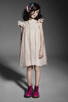 This almost made me feel a bit maternal. So adorable.Pale pink dress from Talc with Pink Dr Martens