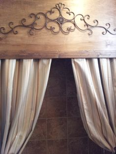 Curtains 24 Ideas bath room window valance ideas cornice boards Orchids How To Keep Them Alive Wooden Valance, Rustic Shower Curtains, Wood Cornice, Bathroom Shower Curtains, Cornice Boards, Bathroom Window Coverings, Window Cornices, Bathroom Windows, Wood Bathroom