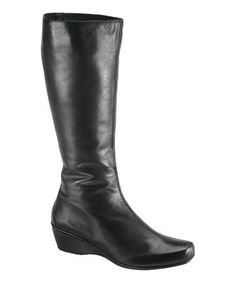Click Image Above To Purchase: Aetrex Vanessa Tall Wedge Boot (women's) - Black Leather Comfortable Boots, Comfy Shoes, Long Boots, Tall Boots, On Shoes, Me Too Shoes, Big And Tall Outfits, Sheepskin Boots, Black Leather Boots
