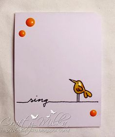 Sing Mini Card #papersmooches #CAS #cleanandsimplecard