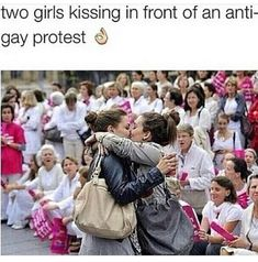 All of the horrified faces in the background gay stuff лгбт, радуга, любовь Lgbt Quotes, Lgbt Memes, Citations Lgbt, Gay Mignon, Gay Aesthetic, Lesbian Pride, Lgbt Community, Cute Gay, Faith In Humanity