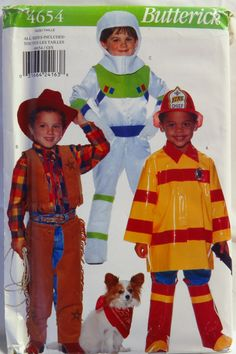 Butterick 4654 Child's Costume