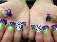 Purple+Green+White+Shimmer