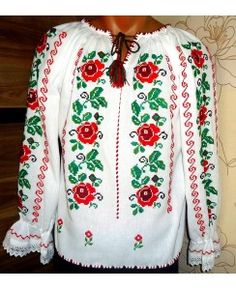 A ie traditionala IE010 Kids Dress Collection, Lana, Christmas Sweaters, Costumes, Dresses, Fashion, Cross Stitch Skull, Dots, Vestidos