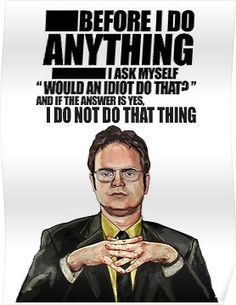 'The Office - Dwight K. Schrute' Poster by savvamadar The Office Dwight, The Office Show, Tool Poster, Office Free, Bosses Day, Office Birthday, Campaign Posters, Office Memes, Office Christmas