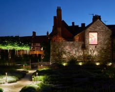 Shakespeare's New Place. This is what we mean when we say #Lighting transforms any space. #lightfunc #lightingdesign