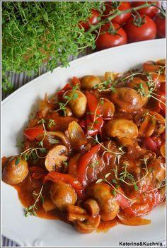 Salmon Recipes, Meat Recipes, Pasta Recipes, Chicken Recipes, Dinner Recipes, Cooking Recipes, Pin On, Polish Recipes, Dinner Dishes