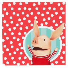 Olivia the Pig 16 Pk Spotty Party Paper Lunch Napkins