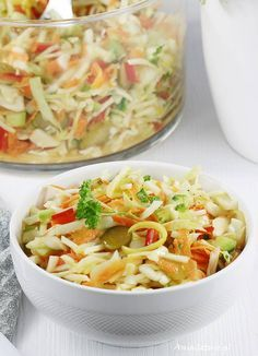 Vegetarian Recipes, Cooking Recipes, Healthy Recipes, Simply Recipes, Polish Recipes, Pasta Salad, Salad Recipes, Good Food, Food And Drink