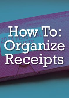 Never lose another receipt with this great way to get organized.