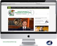 Les presentamos nuestro más reciente proyecto web desarrollado para el Sindicato Nacional de Trabajadores del Seguro Social Sección XII Coahuila.  www.sntsscoahuila.org