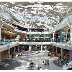 Benoy Architecture project, Westfield London, is a celebrated Architectural and Commercial success for the London Retail, Leisure & Tourism Sectors. Shopping Mall Architecture, Shopping Mall Interior, Modern Architecture, Mall Design, Retail Design, Prado, Shoping Mall, Mall Facade, Facades