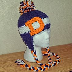 Crochet Braids Denver : Colorado Love Crochet on Pinterest Denver Broncos, Beanie and Pom ...
