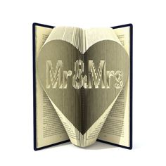 Book folding pattern  MR&MRS in HEART  231 folds  Tutorial