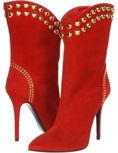 Giuseppe Zanotti Red boots by LADY_VIOLA