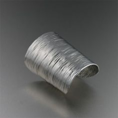 Aluminum 3 Inch Cuff with Bark Texture