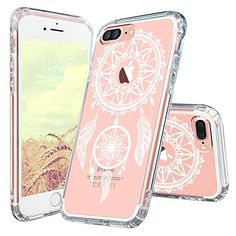 iPhone 7 Plus Case, MOSNOVO iPhone 7 Plus White Henna Mandala Dream Catcher Clear Design Hybrid Protective Case with TPU Bumper and Hard Back Cover Scratch Resistant Case for iPhone 7 Plus (5.5 Inch)