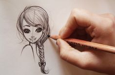 ❤Come disegnare i capelli /how to Draw MANGA HAIR -3 hairstyles(step by ...