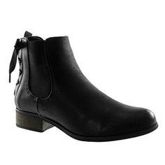 b97d259995c Angkorly - Chaussure Mode Bottine Chelsea Boots Femme Lacet Ruban Satin Talon  Haut Bloc 3.5 CM - Intérieur Fourrée - Noir 3 - F911 T 39