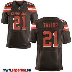 Men's Cleveland Browns #21 Jamar Taylor Brown Team Color Stitched NFL Nike Elite Jersey