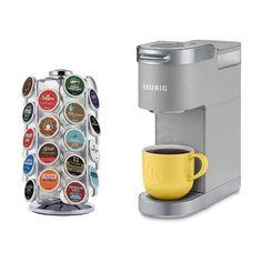 Keurig Keurig K-Mini Plus, Single Serve K-Cup Pod Coffee Maker Bundle, Comes with Carousel Colour: Grey Keurig Mini, Pod Coffee Makers, Single Serve Coffee, Cord Storage, K Cups, Great Coffee, Canning Jars, Coffee Machine, Cool Kitchens