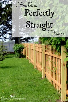 Got a fence project to DIY? Getting it perfectly straight is crucial but not that easy. There is a specific process that will get a beautifully straight and even fence and that is shared in this post! You don't want to miss these valuable tricks.
