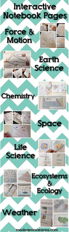 Interactive Notebook Pages for Science Journals - Loaded with tons of great activities. Includes all 7 of my best selling science interactive notebooks. Might just have to buy these 8th Grade Science, Middle School Science, Elementary Science, Science Classroom, Science Education, Teaching Science, Science Activities, Science Ideas, Physical Science