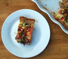 The Urban Poser:: Soppressata, Caramelized Onion and Green Olive Quiche with an Almond Crust (gluten/dairy free)