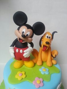 Pluto and Mikey mouse cake topper