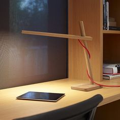The warmth of wood combines beautifully with the smart beauty of LEDs on this Clamp Mini Task Lamp.