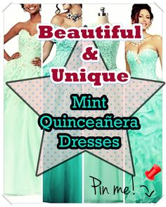 Mint Quinceanera dress shopping can be one of the worst and best areas of event planning. To keep your sanity in order, have a look at our tips, which includes style, size. Mint Quinceanera Dresses, Quince Dresses, Young Female, Different Patterns, Event Planning, Cute Dresses, Fancy, Make It Yourself, Unique