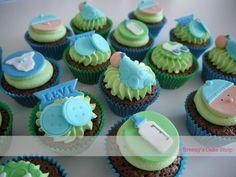 Baby boy cupcakes by www.breezyscakes.com.au