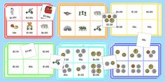 Toy Shop Bingo Up to 5 Dollars Activity Pack Money Activities, Class Activities, Hands On Activities, Year 4 Maths Worksheets, Math Pages, Australian Curriculum, First Grade Math, Classroom Displays, Numeracy