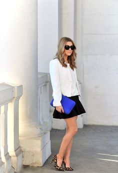 WHITE & BLUE – I DON'T NEED A REASON TO DRESS UP   Make Life Easier
