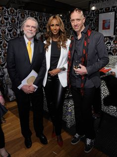 Charles Kings poses with co-chair, Iman who worked with stylist Robert Verdi on her dream boudoir.