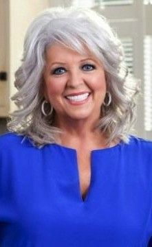 Paula Deen Bio from Food Network Food Network Star, Food Network Recipes, Paula Deen, Silver Hair, Grey Hair, Older Women, Curly Hair Styles, Hair Makeup, Hair Cuts