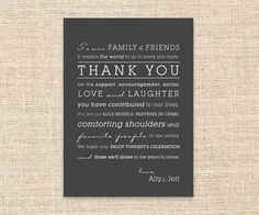 Thank You Card for your Wedding Day -