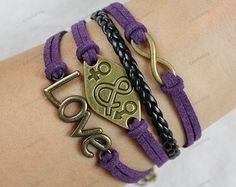 infinite braceletsbrown leather bracelets boy by lifesunshine, $8.99