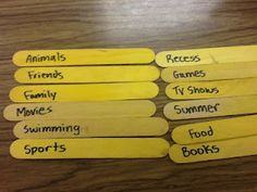 Liz's Speech Therapy Ideas: Conversation Sticks - DIY activity!