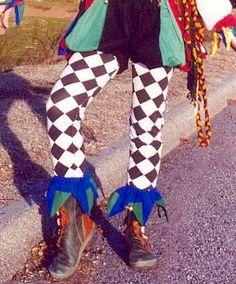 Jester Leggings for Fool's & Clowns - Red Diamond/Blue Diamond Jester Fool Leggings [390 029Diam/004Diam] - $19.50