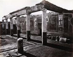 Excavations of Pompeii, photographed by Giorgio Sommer 1880.