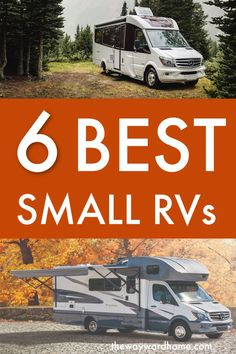 If you're intimidated by living in an RV, a small RV might be the best choice. Here are our top picks for the best 6 smaller motorhomes for traveling the U. Amazing Things To Do in Australia Small Rvs For Sale, Best Small Rv, Rv For Sale, Small Motorhomes, Class B Motorhomes, Small Rv Trailers, Best Motorhomes, Small Rv Campers, Scamp Trailer