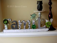 Unfinished Wood FAMILY Letters Home Decor