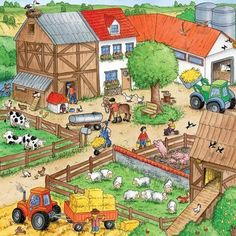 Ravensburger piece jigsaw puzzles - farmyard animals images at mighty Speech Language Therapy, Speech Therapy Activities, Speech And Language, Writing Pictures, Picture Composition, Hidden Pictures, Farm Theme, Country Art, Farm Yard