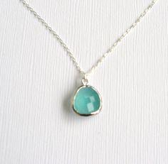 Mint julep silver delicate modern jewelry by LemonSweetJewelry, $18.00