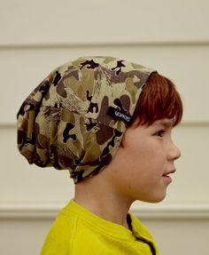 Camo beanie by Slouch Headwear #handmade #beanie #kidfashion