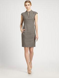 Akris Wool Tweed Dress