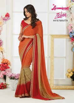 Look awesome at an any occasion by wearing the saree. Make a statement by donning this stylish saree. Rich in material and of pure ethnic essence, this saree will be a collector's item in your fabulous collection. Laxmipati Sarees, Stylish Sarees, Daily Wear, Bridal Collection, Kurti, Casual Wear, Catalog, Ethnic, Print Design
